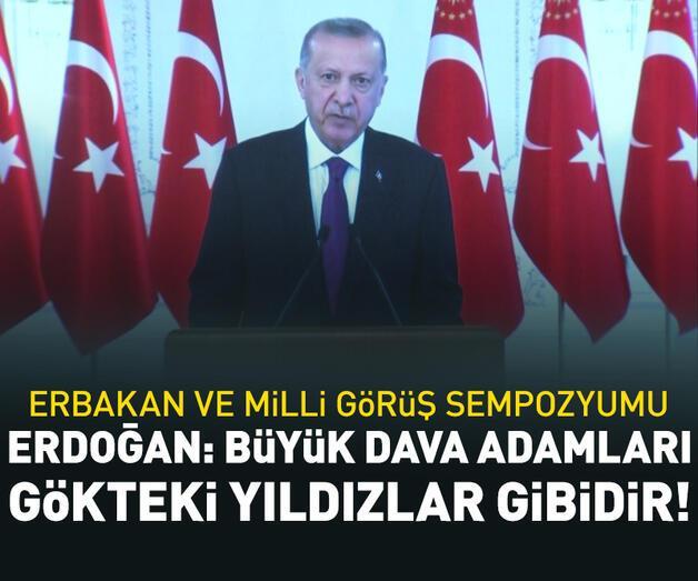 Son dakika: Cumhurbaşkanı Erdoğan'dan Erbakan Sempozyumu'na video mesaj
