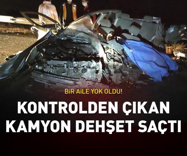 Son dakika: Burdur'da kontrolden çıkan kamyon dehşet saçtı