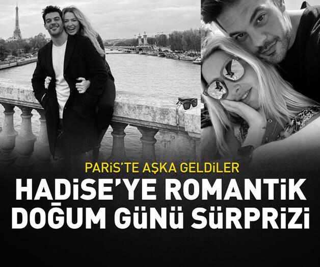 Son dakika: Hadise ile Mehmet Dinçerler, Paris'te aşka geldi