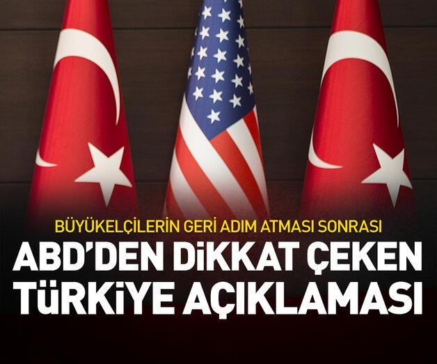 Son dakika: ABD'den Türkiye açıklaması