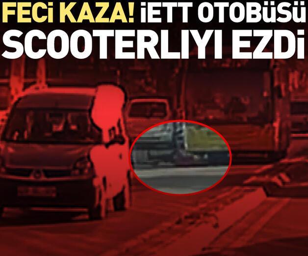 Son dakika: İETT otobüsünün ezdiği scooterlı ağır yaralandı
