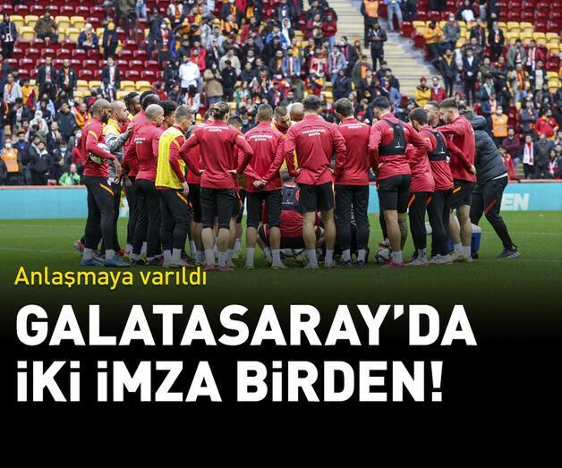 Son dakika: Galatasaray'da iki imza birden!