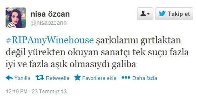 Winehouse'un ardından Twitter'da konuşulanlar