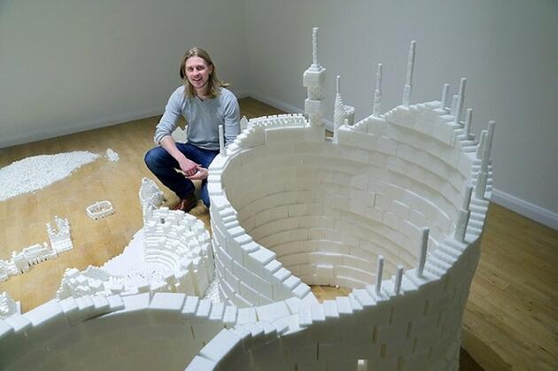 500 bin küp şekerden metropol inşa etti