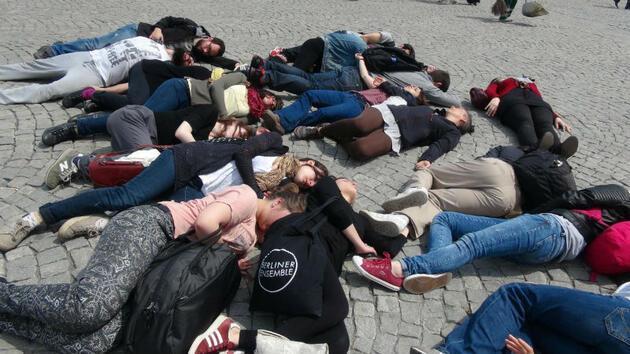 Taksim Meydanı'nda Soma eylemi
