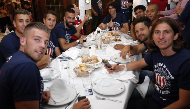 Atletico Madrid'in şampiyonluk yemeği