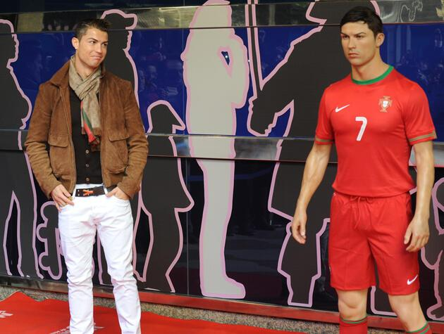 Ronaldo'nun heykel şaşkınlığı