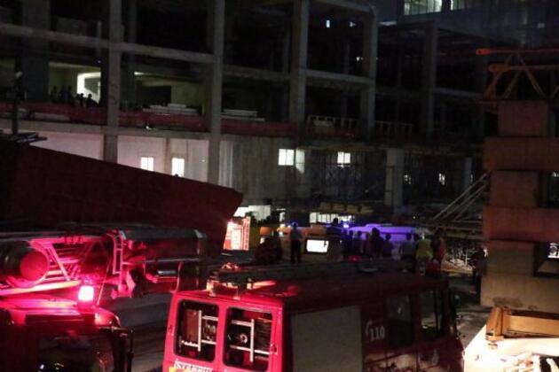 Mecidiyeköy'de inşaatta asansör çakıldı