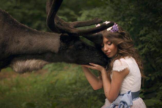 Gerçek hayvanlarla çekilmiş çok özel fotoğraflar