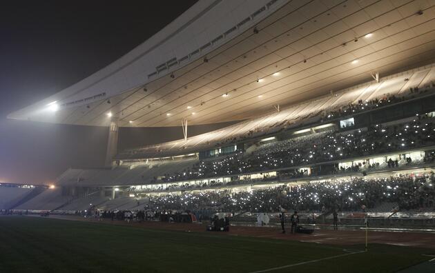 Elektrik kesilince Olimpiyat Stadı...