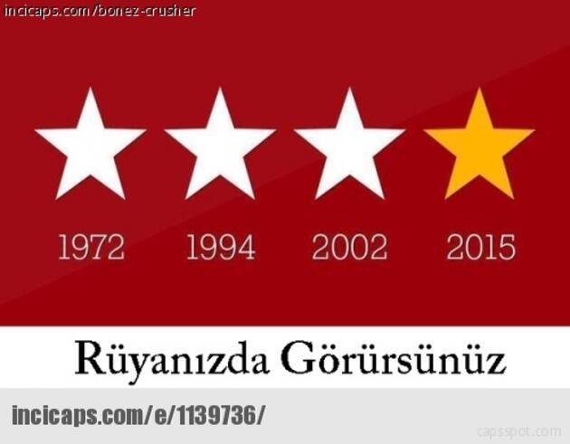 Galatasaray'ın şampiyonluk capsleri sosyal medyayı salladı