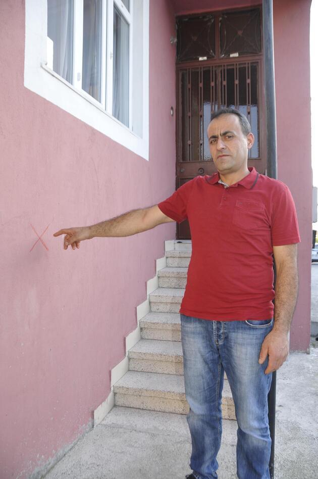 İzmit'te Alevi evlerini işaret