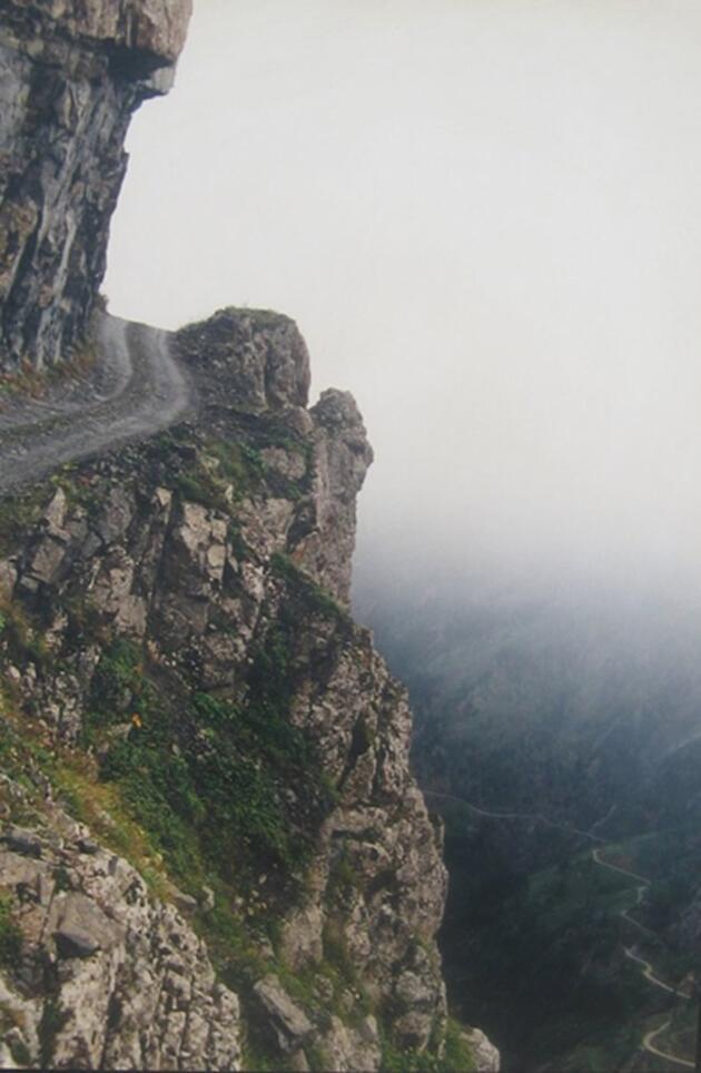 Dünyanın en tehlikeli yolu Bayburt'ta