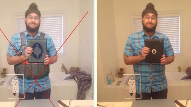 Selfie'si photoshop'lanıp Paris'teki terörist diye lanse edildi