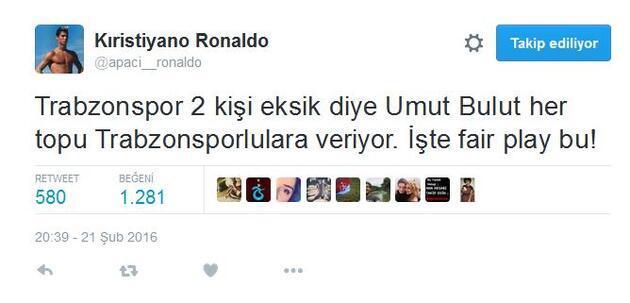 Galatasaray - Trabzon maçına dair atılmış en iyi 14 tweet