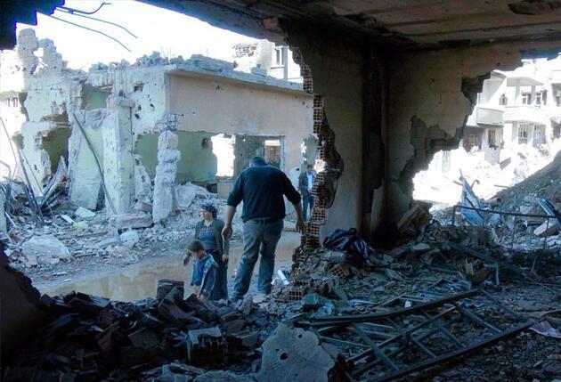Cizre'de çatışmanın izleri