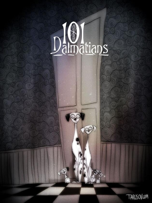 Disney filmlerini Tim Burton yönetirse...