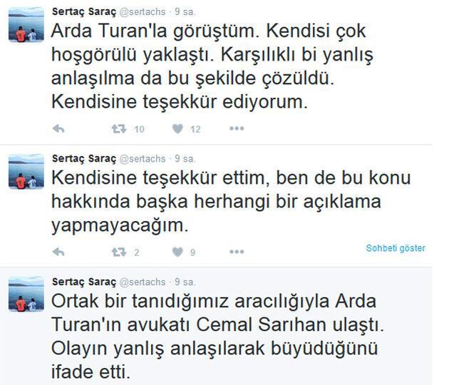 Arda Turan takipçisini tehdit etti