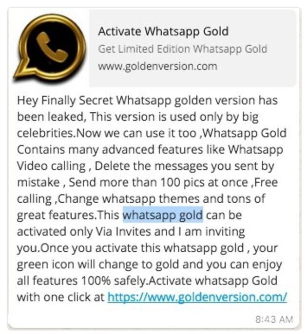 WhatsApp Gold veya WhatsApp Plus nedir?