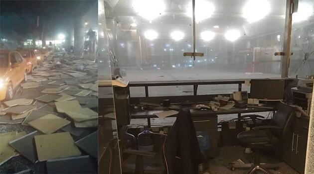 Atatürk Havalimanı'nda meydana gelen patlamadan ilk kareler