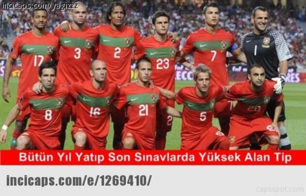 Fransa - Portekiz finali capsleri