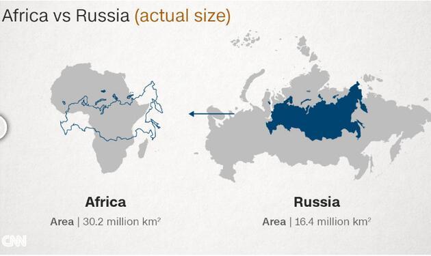 Dünya haritasında Rusya neden Afrika'dan daha büyük görünür?