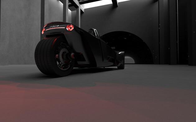 Üç tekerlekli otomobil konsepti Azkarra