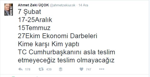Emekli Albay Ahmet Zeki Üçok darbe uyarısı yaptı