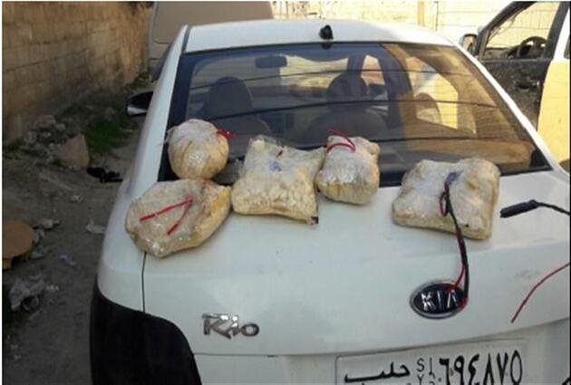 Türk askerlerine saldıracaklardı, bombalı araçta yakalandılar