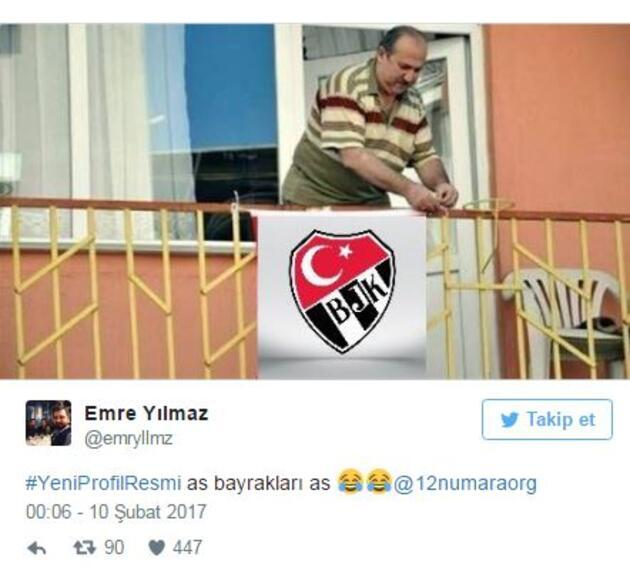 Fenerbahçe taraftarının hazırladığı Beşiktaş logosu beğenildi