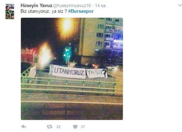 Bursaspor'a yapılan saldırı Twitter'ı karıştırdı