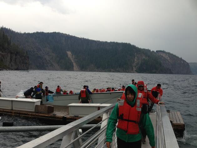 Hayalet gemili gölde heyecan dolu bir gün: Krater Gölü