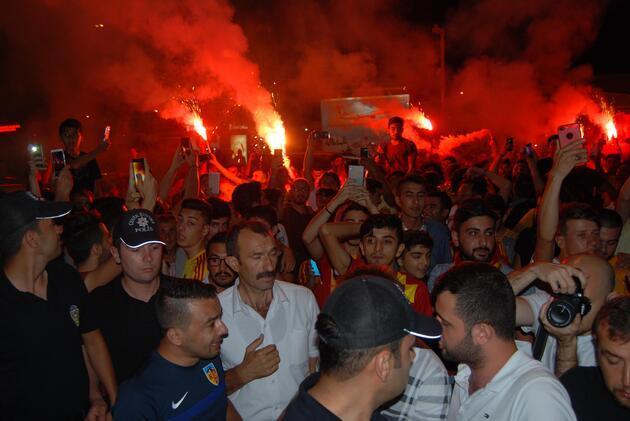 Kayseri'de Asamoah Gyan coşkusu
