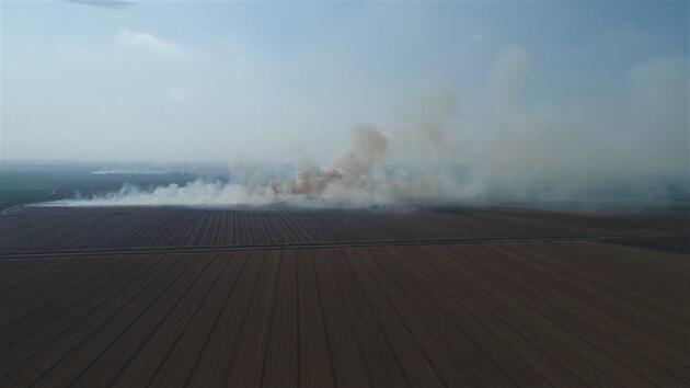 Adana anız yangınlarıyla boğuluyor