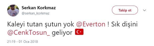 Cenk Tosun'un Everton'a değil Everton'ın Cenk Tosun'a ihtiyacı var