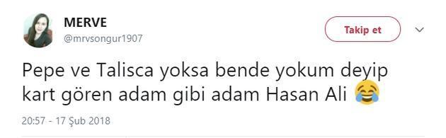 Hasan Ali kartı gördü Twitter yıkıldı