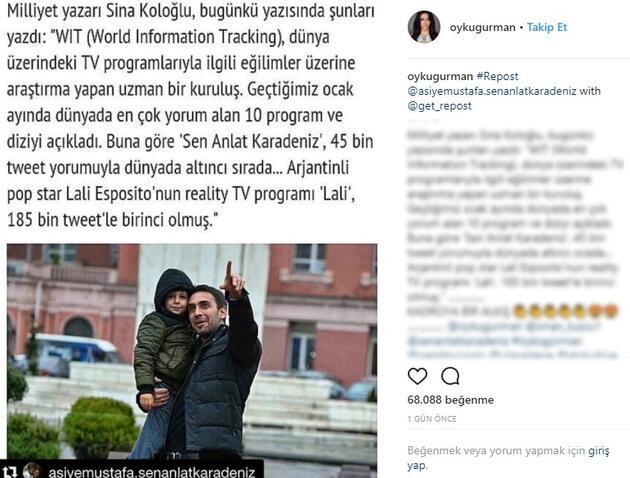 Sen Anlat Karadeniz'in Asiye'si Öykü Gürman'dan dizinin takipçilerine teşekkür