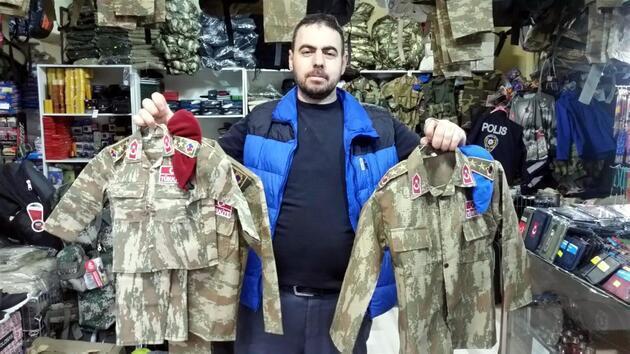 Çocuk kamuflajı satışları Afrin'le birlikte patladı
