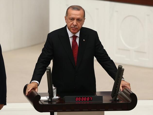 Yeni sistem resmen başladı: İşte Cumhurbaşkanı Erdoğan'ın yemin töreninden kareler