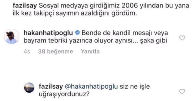 Hakan Hatipoğlu'dan Fazıl Say eleştirisi: En azından insanım!