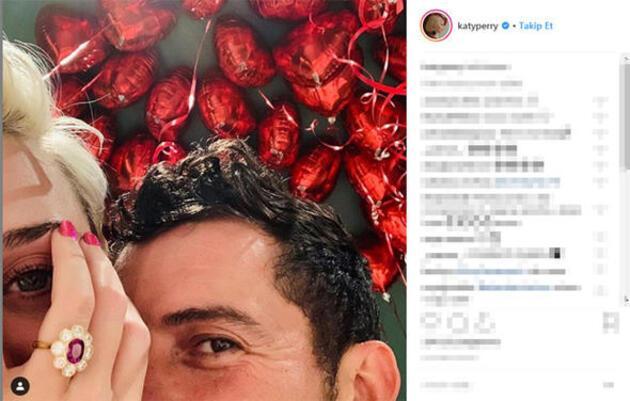 Katy Perry ve Orlando Bloom sevgililer günü'nde nişanlandı