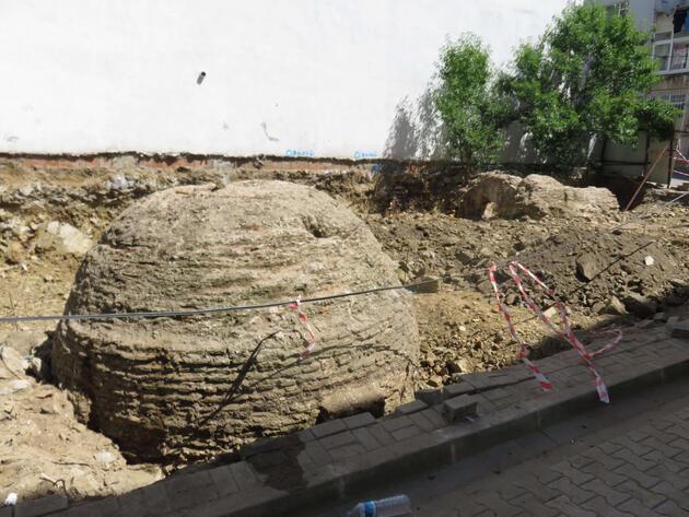 Üsküdar'da inşaat çalışmasında tarihi kalıntılar bulundu