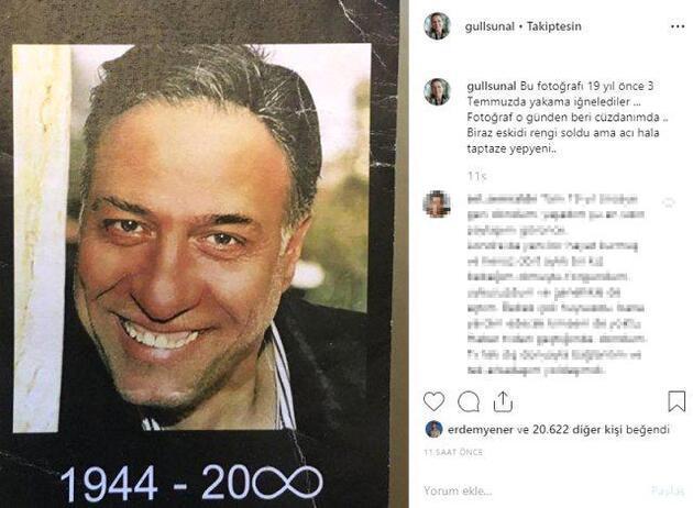 Gül Sunal, Kemal Sunal'ın ölüm yıl dönümünde yaptığı paylaşımla duygulandırdı
