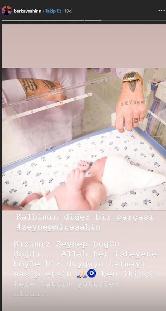 Berkay Şahin ikinci kez baba oldu