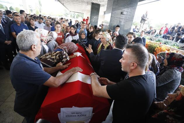 Erbil'de şehit düşen Türk diplomat son yolculuğuna uğurlandı