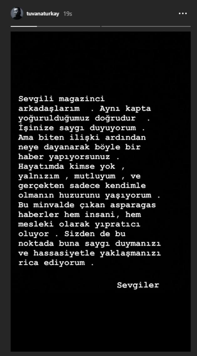 Tuvana Türkay'dan Tolga Mendi açıklaması