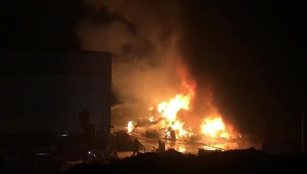 Denizli'de kimyasal fabrikasında yangın!