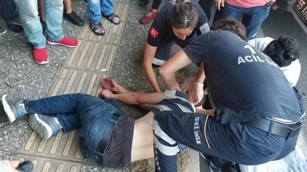 İki kişi sopalarla saldırdı! Kanlar içinde kaldı!
