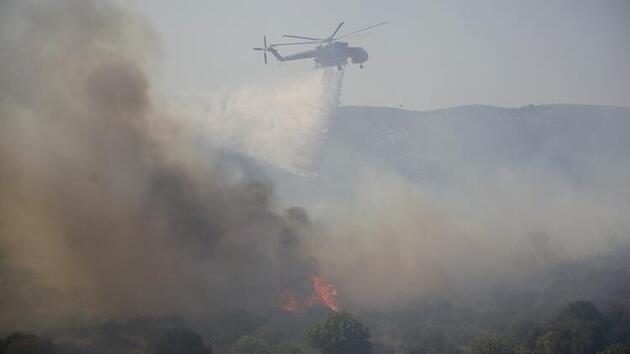 Yunanistan'da yangın! Tahliye emri verildi