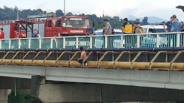 Eşiyle tartışıp nehre atladı